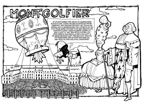 Kleurplaat, Geschiedenis van de Luchtvaart, Montgolfier
