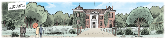Uitsnede uit pagina 21 uit stripboek over keizer Wilhelm II